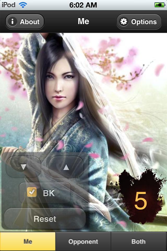 Screenshot L5R Honor Counter